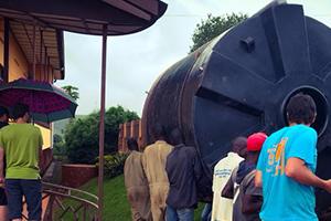 Aménagement d'un tank à eau au Burundi