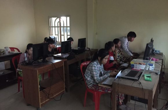 Don d'ordinateur et d'imprimante – Tnol Trong – Février 2019
